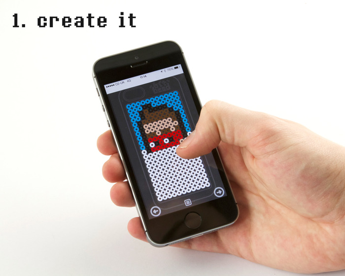 Let your imagination run wild and create your design using the interactive  Bit Bead web app.