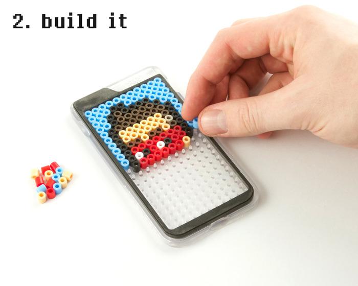 Build your design using the custom Bit Bead Pegboard.