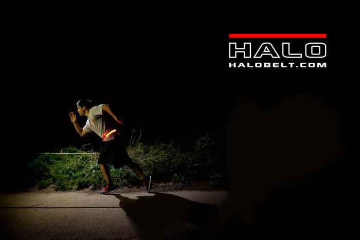 Halo belt keeps your night runs safe!