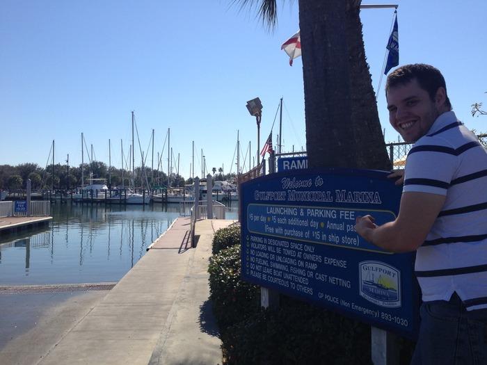 Producer Rob Owen at Gulfport Marina