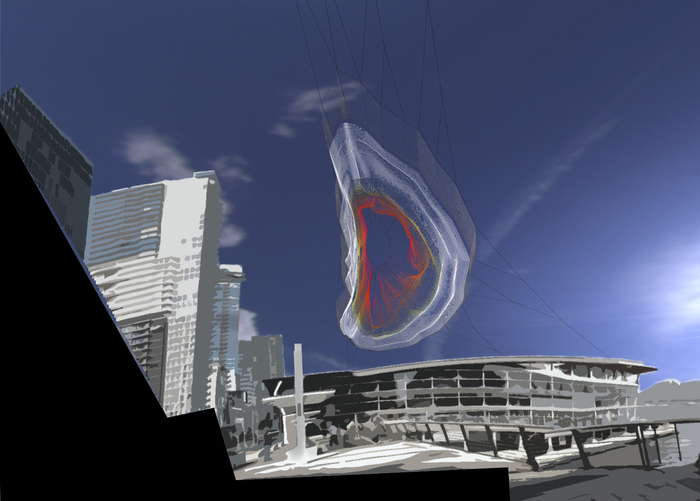 (Conceptual Rendering looking from plaza towards Vancouver Convention Center)