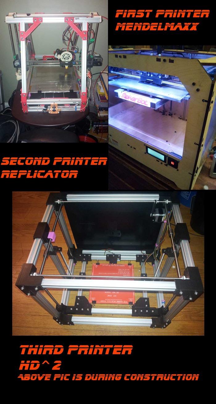 3 Different 3D Printers