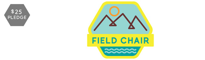 Field Chair emblem embroidered patch (colors may change).