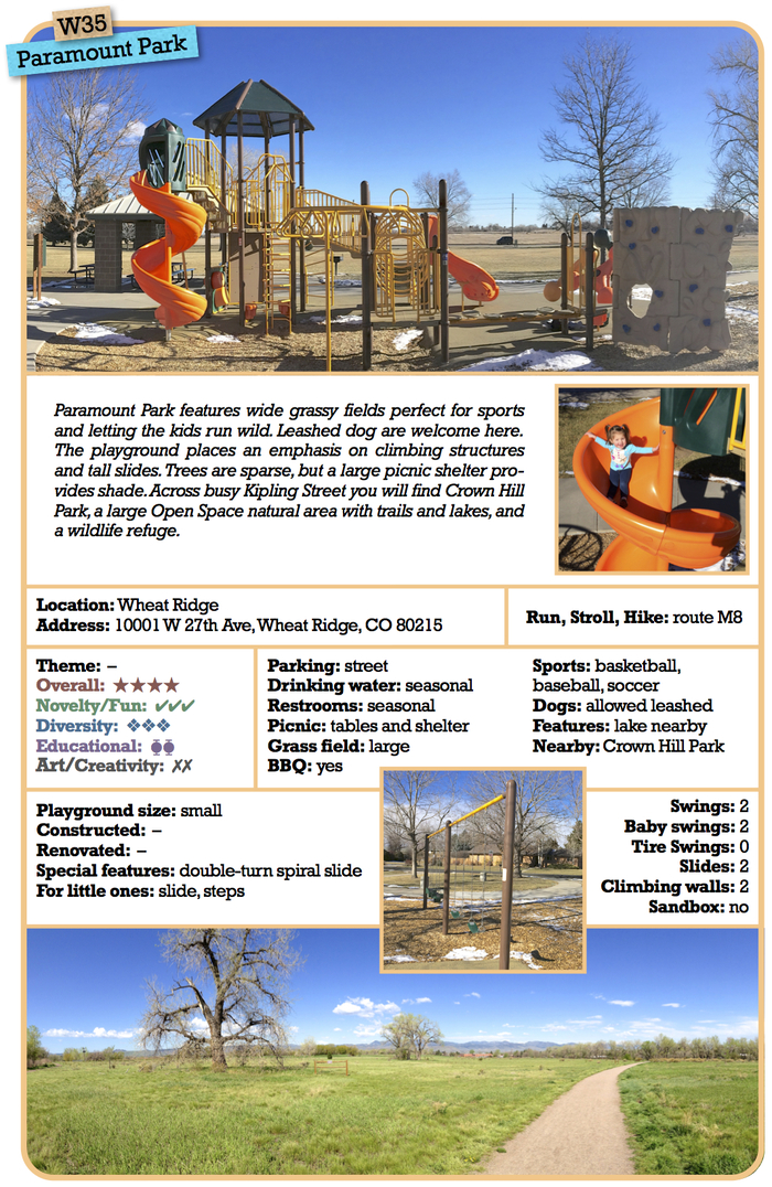 An early draft page of one of the 50 detailed playground description.