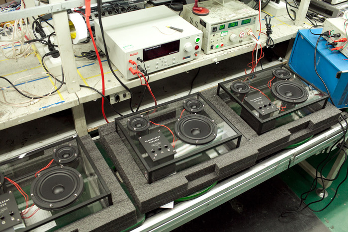 Testing on production line