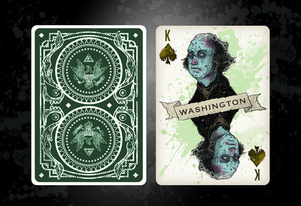 Green Deck Card Front and Back