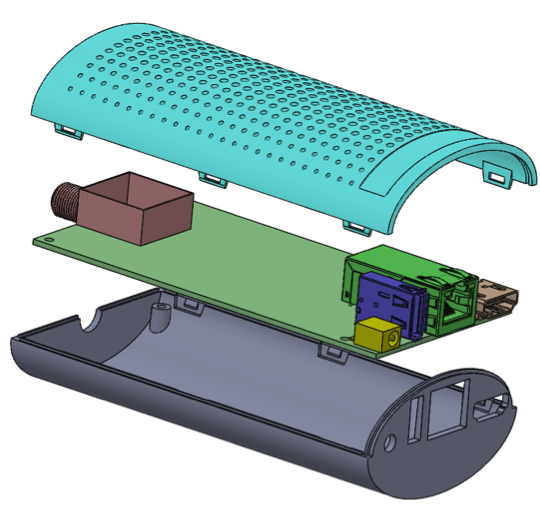 The Channels Tuner design we're taking into production: a lot smaller than the original mockup at just 4.8 inches long!