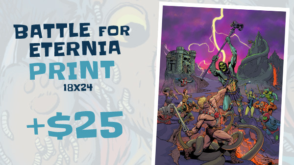 Battle for Eternia 18x24 print - Art by Adam Moore