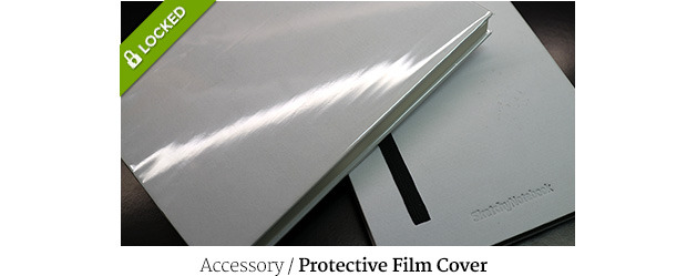 Especially useful for white covers, we need at least 2000 users so we'll be able to make a custom protective film for your SketchyNotebook!