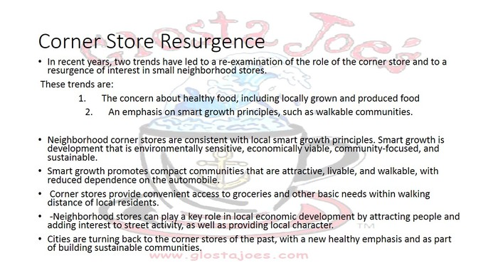 Do people really want a corner store? YES!
