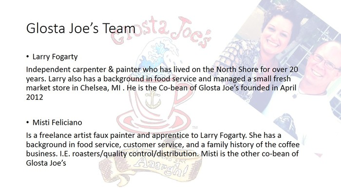 Now that you know us, see what Glosta Joe's has done.