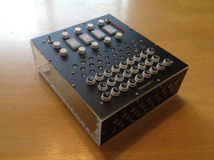 Assembled Open Enigma electronics, with plugboard