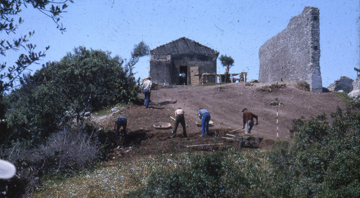 Early excavations of Cosa.