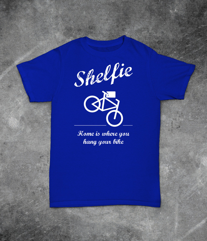"""Home is where you hang your bike"" T-Shirt"
