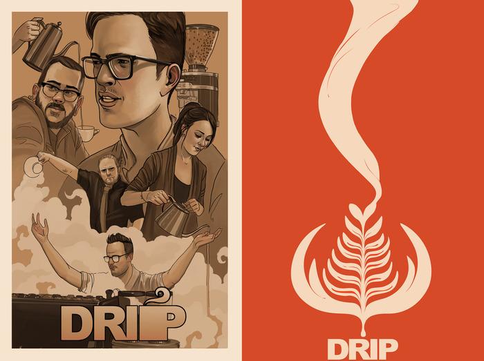 Digital and Print Drip posters