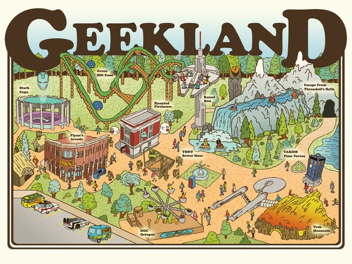 """Limited Edition 24"""" x 18"""" GEEKLAND poster by artist Josh.Ln"""