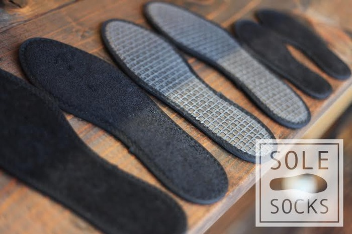 base of the sole sock