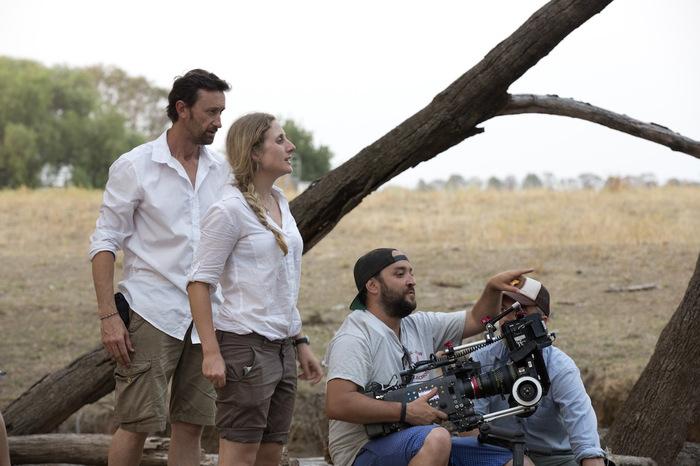 Director Megan Riakos & crew on location in Mudgee.