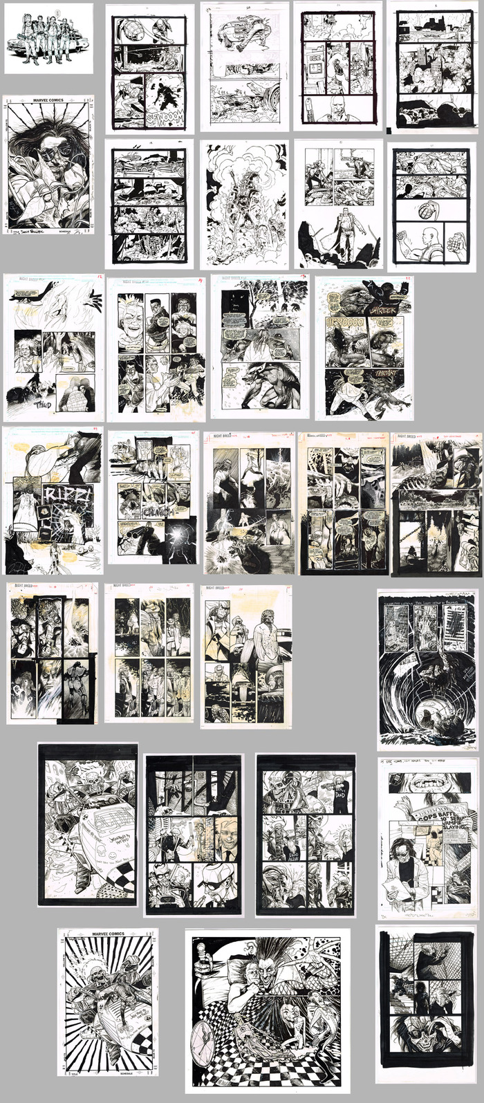 Thumbs of 30 pages from Marvel, IDW, and Terminator with Goran Parlov!