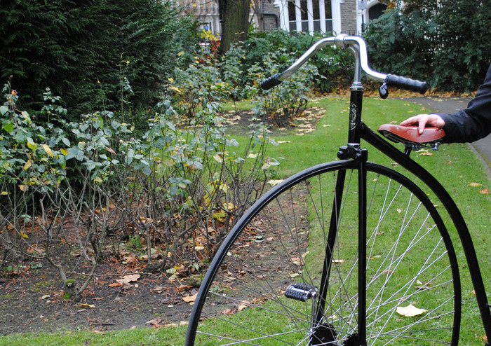 Ride this Penny Farthing while enjoying Victorian treats!