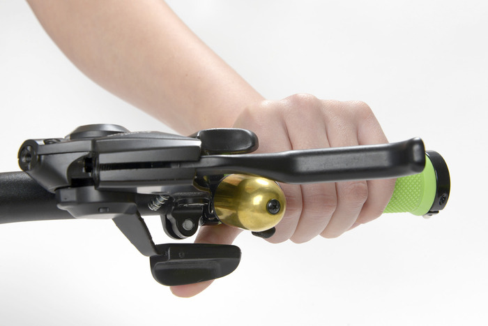 Trigger Bell works perfectly with integrated rapid fire gear shifters and brakes