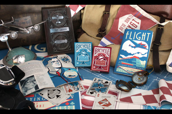 Vintage Aviation Playing Cards with Art Booklet