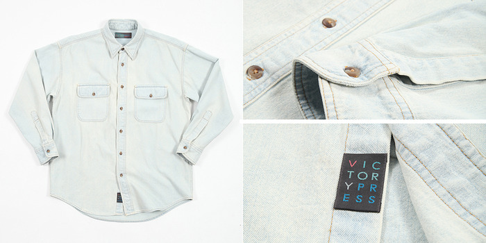 Bleached Denim WorkShirt ($100)