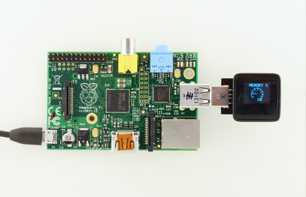 The MicroView can display your Raspberry Pi's Stats!