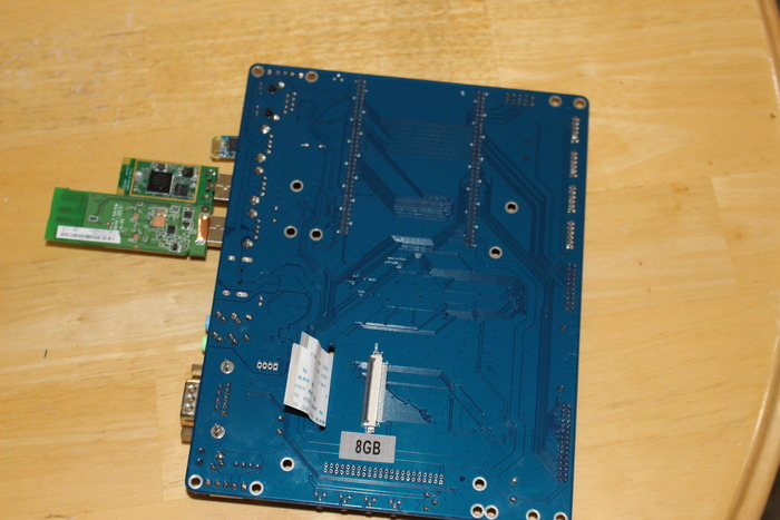 Back side...This is what was under the lcd in the videos...that white cable is the LCD connection.