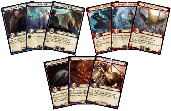 Basic Units, Elite Units, and Action Cards