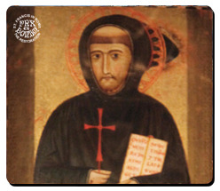 Mouse pad with the reproduction of the portrait of St. Francis by Margaritone d'Arezzo (1262-1305)