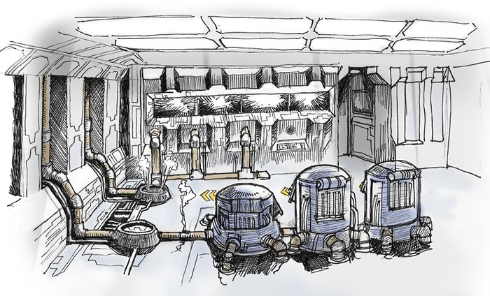 Step 3 - Concept art for cryonic chamber