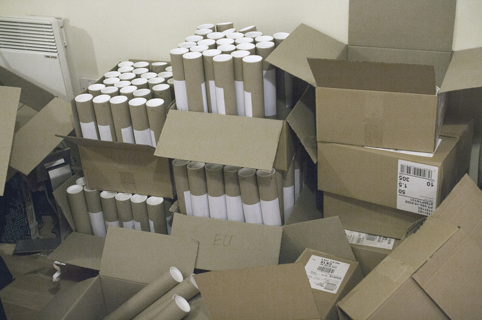The final shipment ended up filling the entirety of a Royal Mail post van.