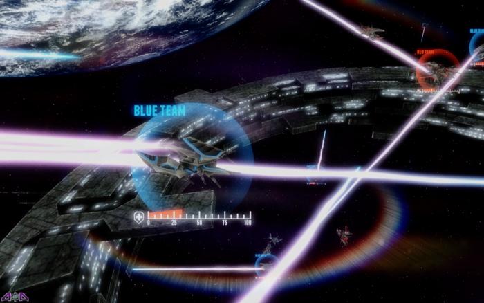 Battle rages around a spacestation