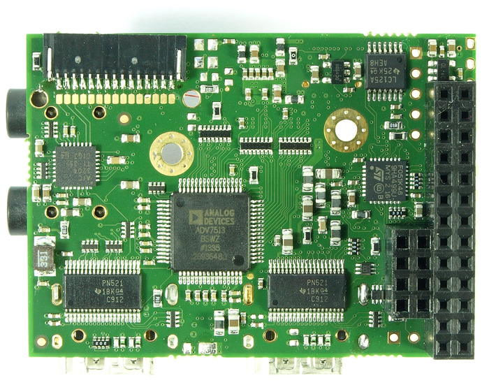 Bottom view of prototype module