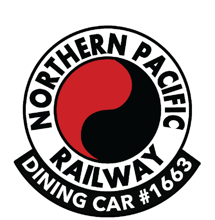 Our Northern Pacific Dining Car 1663 Logo