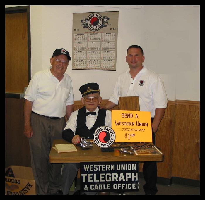"Bud Emmons, Jim Fredrickson & David Burns at a ""Great Big Baked Potato"" Dinner and Silent Auction"