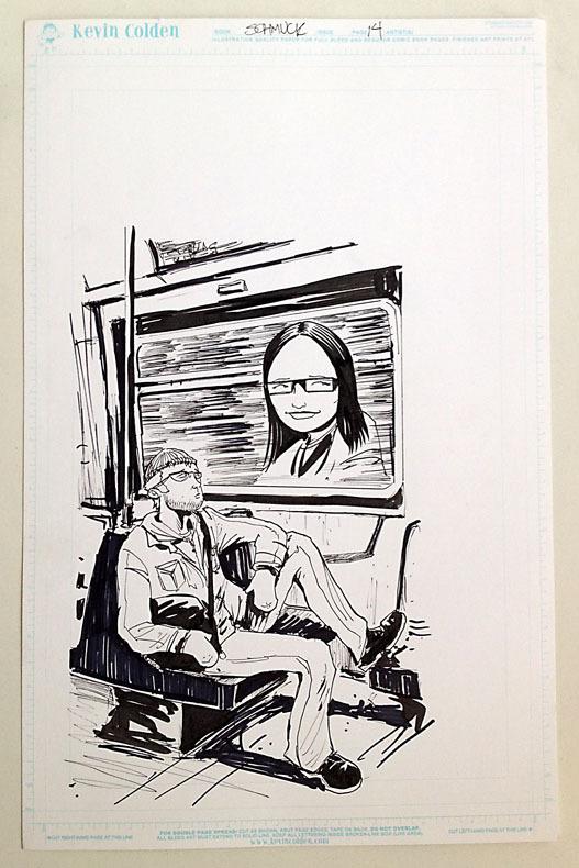 Original art from SCHMUCK by Kevin Colden, offered as a reward