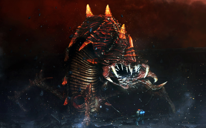 """""""The Sumerian chthonic deity Ker, a great burrowing worm whose digestive tract is a doorway to the Underworld."""" It's basicaly a big, huge bad and mean sandworm that players need to battle. Part of primary storyline is based around it."""