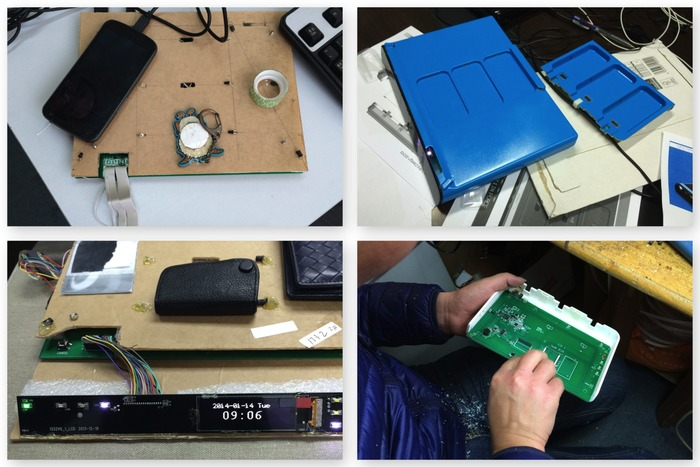 Early Engineering Studies: Testing NFC, OLED display and Casing fitting.