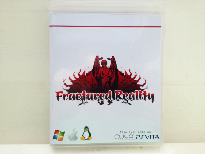 First mock-up of the boxed copy