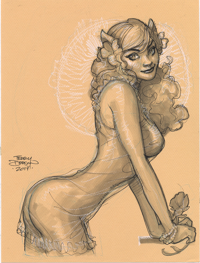 Artwork by Terry Dodson (for Reward)