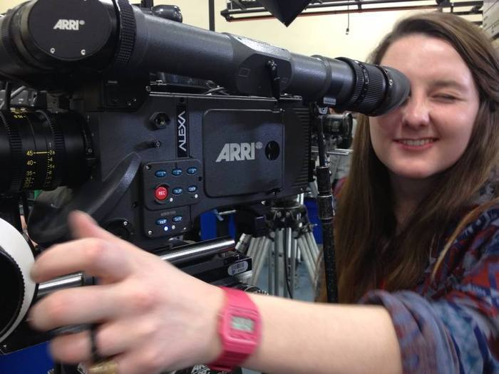 Student Katie Barsotti Checking Out the Camera