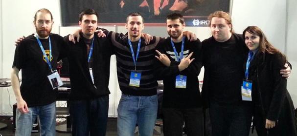 Core of the Ironward team at Reboot InfoGamer con - Hrvoje Horvatek (CEO and game designer), Davor Ivanuš (progammer), Vjeko Koščević (artist), Danijel Mandić (environment artist/scripter) + some of our close supporters.