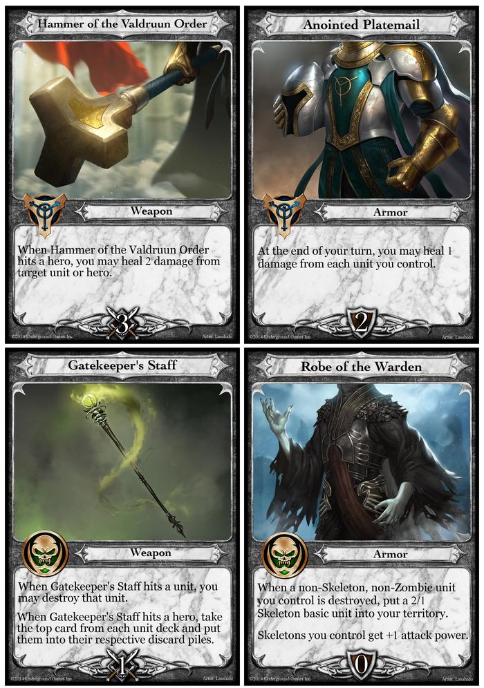 Paladin & Necromancer Weapons/Armor
