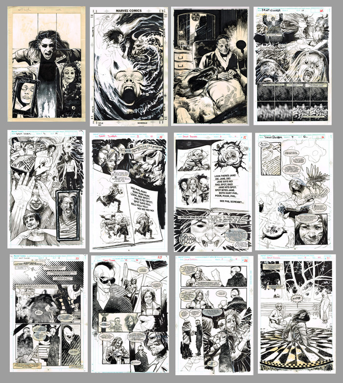 Some more work for the old WFH art category, 12 Saint Sinner pages and cover art from books 1 to 3 of my first and last monthly gig at Marvel!