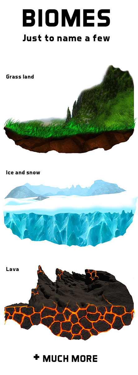 We are creating all kinds of new biomes (environments to build and play in) that you won't currently see in the beta