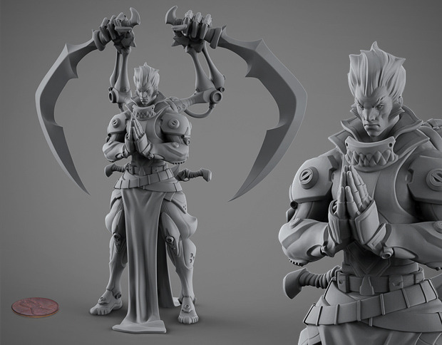 Songhai Empire, Bloodborn General, 75mm Acrylic Resin Miniature