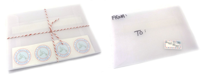 Translucent mailing envelopes are delightful for sending tiny letters via the regular postal service. Wow!