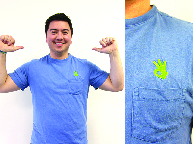 The OnHand embroidered logo pocket t-shirt
